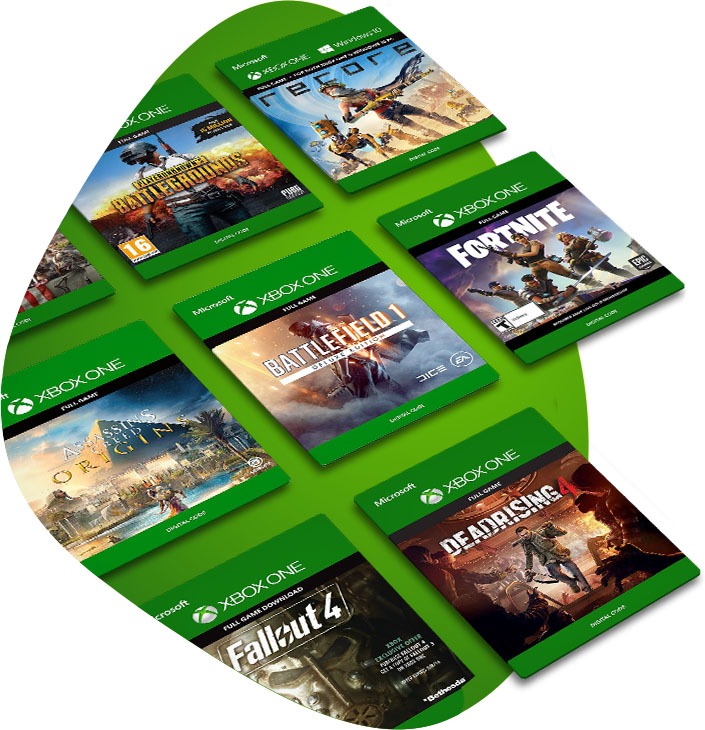 Collage of Xbox game boxes